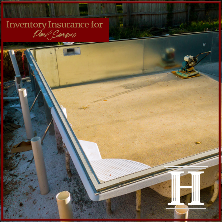 pool installation inventory insurance